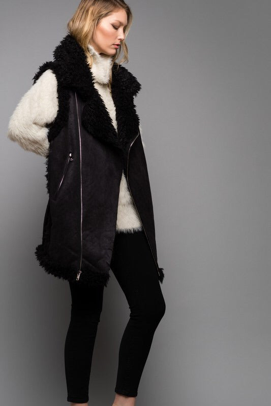The Kaia Faux Shearling Vest-Outerwear-Style Trolley
