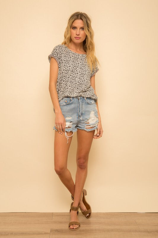 Animal Print Tee-Top-Style Trolley