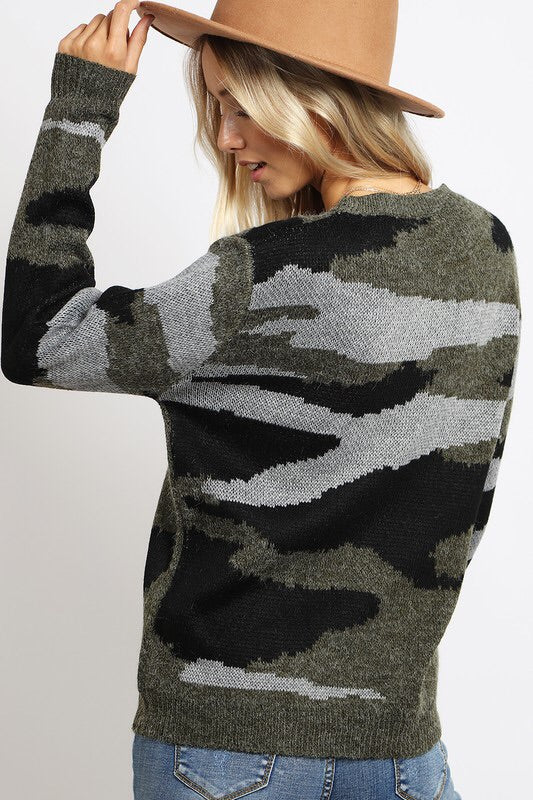 The Jenny Camo Sweater-Sweater-Style Trolley