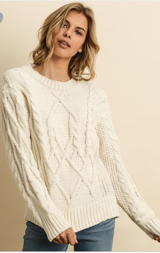 Cableknit Pullover-Sweater-Style Trolley