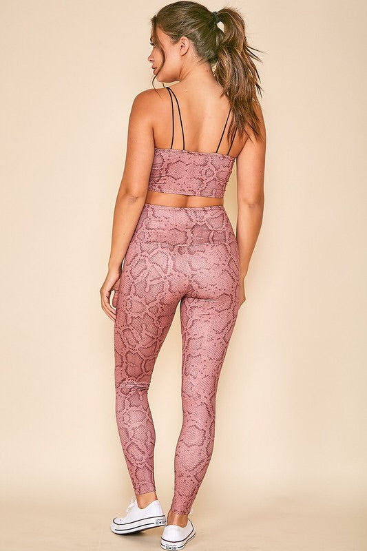 Snakeskin Print Workout Set-Activewear-Style Trolley