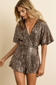Rose Gold Sequin Romper-Romper-Style Trolley