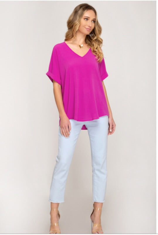 The Emily V-Neck Top-Top-Style Trolley