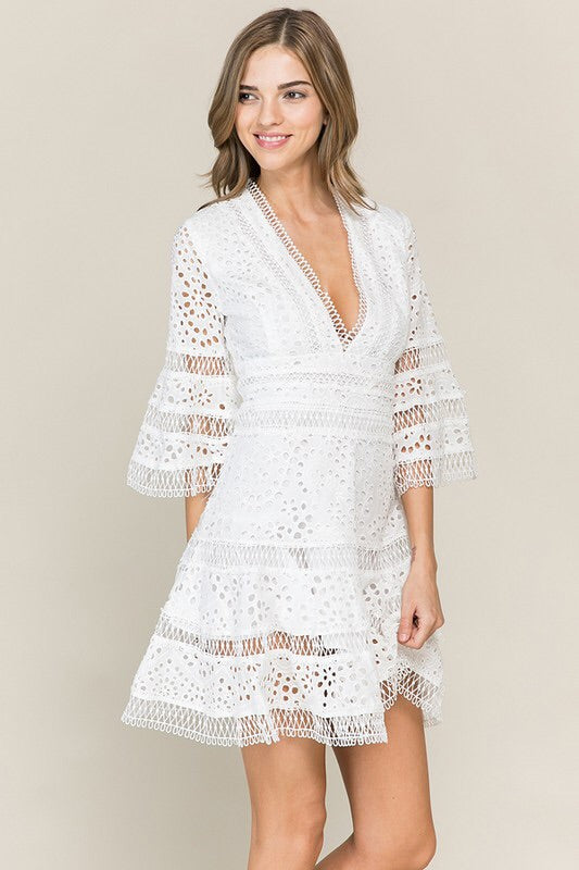 The Jasmine Eyelet Lace Sundress-Dress-Style Trolley