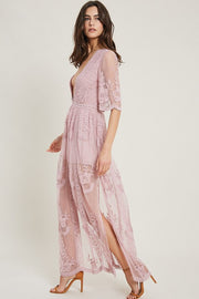 Gwyneth Embroidered Lace Romper-Dress-Style Trolley