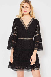 Mila Eyelet Lace Dress-Dress-Style Trolley