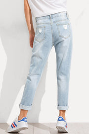 Whitney Distressed Boyfriend Jeans-Jeans-Style Trolley