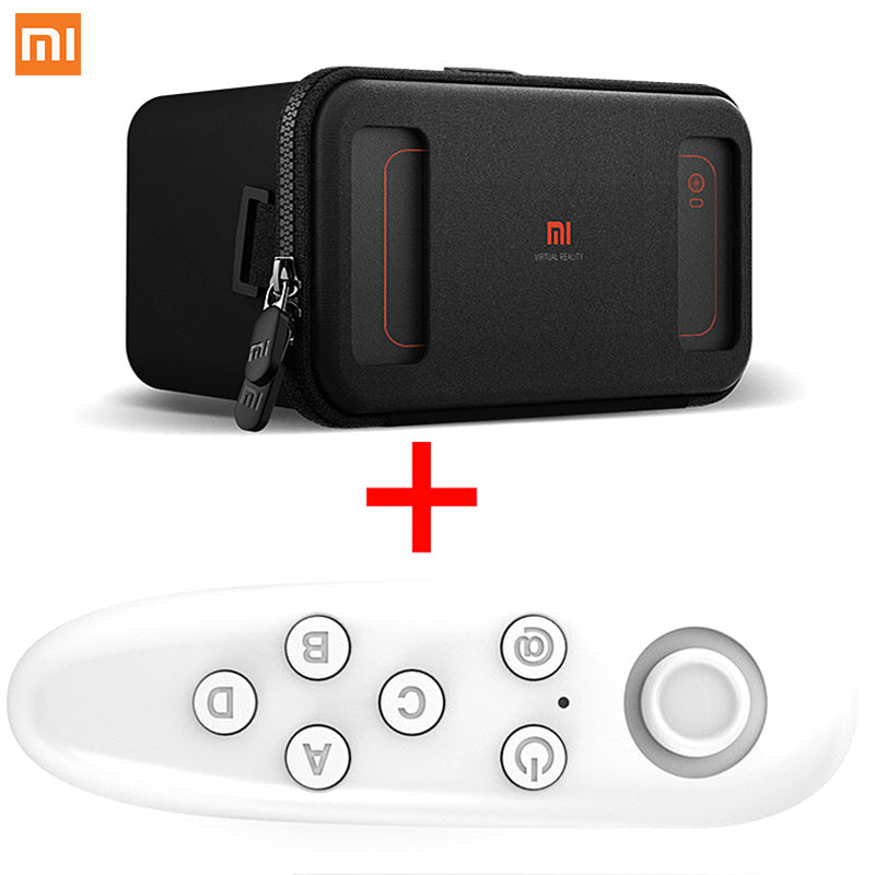 Cheap Xiaomi VR Original Mi Box Virtual Reality With Remote Controller 3D Immersive Headset Cardboard for 4.7- 5.7 inch Phone