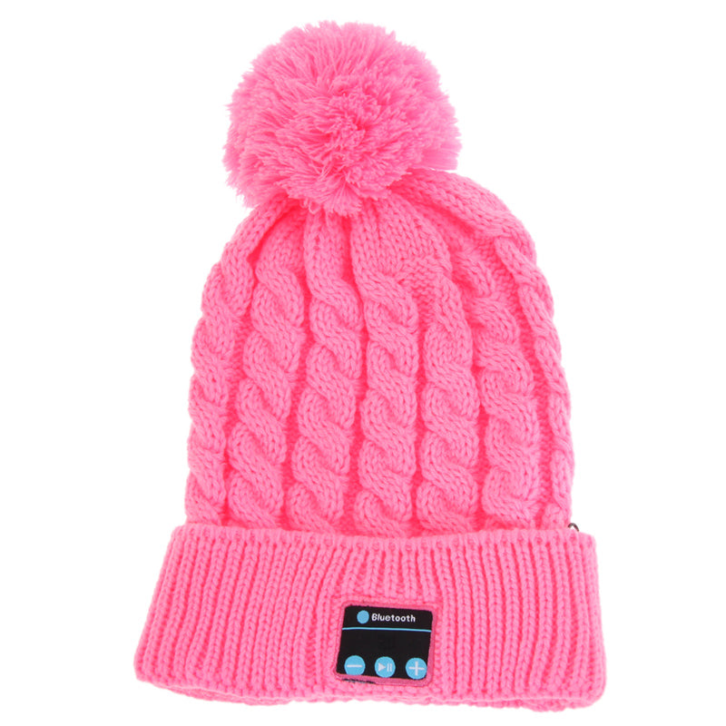 Women Winter Warm Wireless Sport Bluetooth Headset Smart Cap Headphone Speaker Soft Warming Bluetooth Beanie Hat For Smartphone