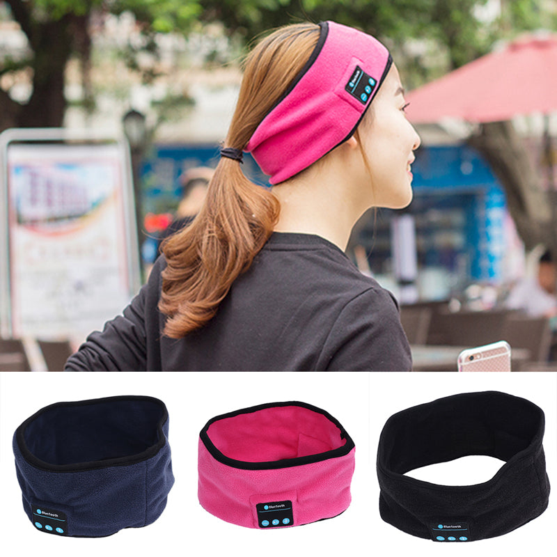 2017 New Soft Wireless Bluetooth 3.0 Smart Cap Sleep Headset Knitted Sports Sleeping Headband Headset Headphone Speaker