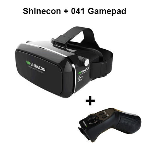 Shinecon VR Google Cardboard Virtual Reality Smartphone 3D Glasses Headset Cardboard Head Mount for 4-6' Mobile Phone + Remote