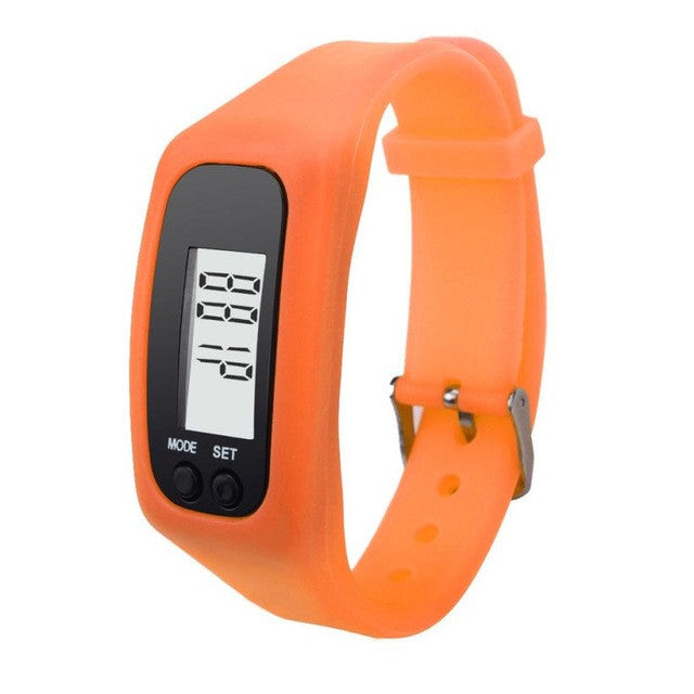 New Brand Digital LCD Pedometer Run Step Walking Distance Calorie Counter Watch Bracelet More Design Casual Watch Woman Hot Sale