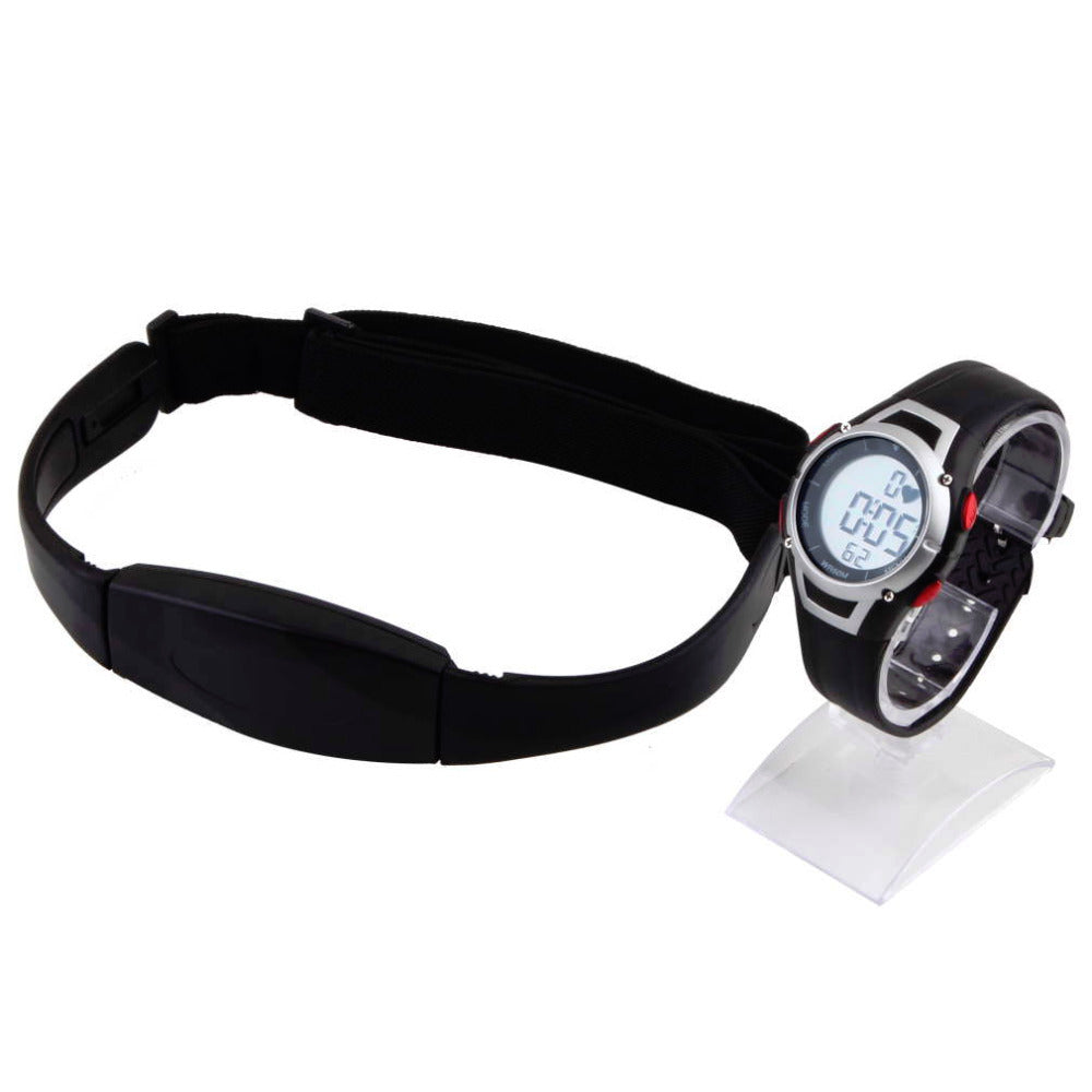 1 Set Chest Transmitter Strap Watch Outdoor Cycling Sport Wireless Heart Rate Monitor Sport Fitness reloj inteligente Brand New