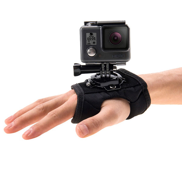 PULUZ 360 Degree Rotation Mount Holder Wrist Hand Strap for Gopro SJCAM Yi Sports & Action Video Cameras Accessories