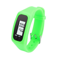 8 Colors Led Digital LCD Pedometer sport watch For Women Men Running Women Watches Bracelet relojes mujer 2017