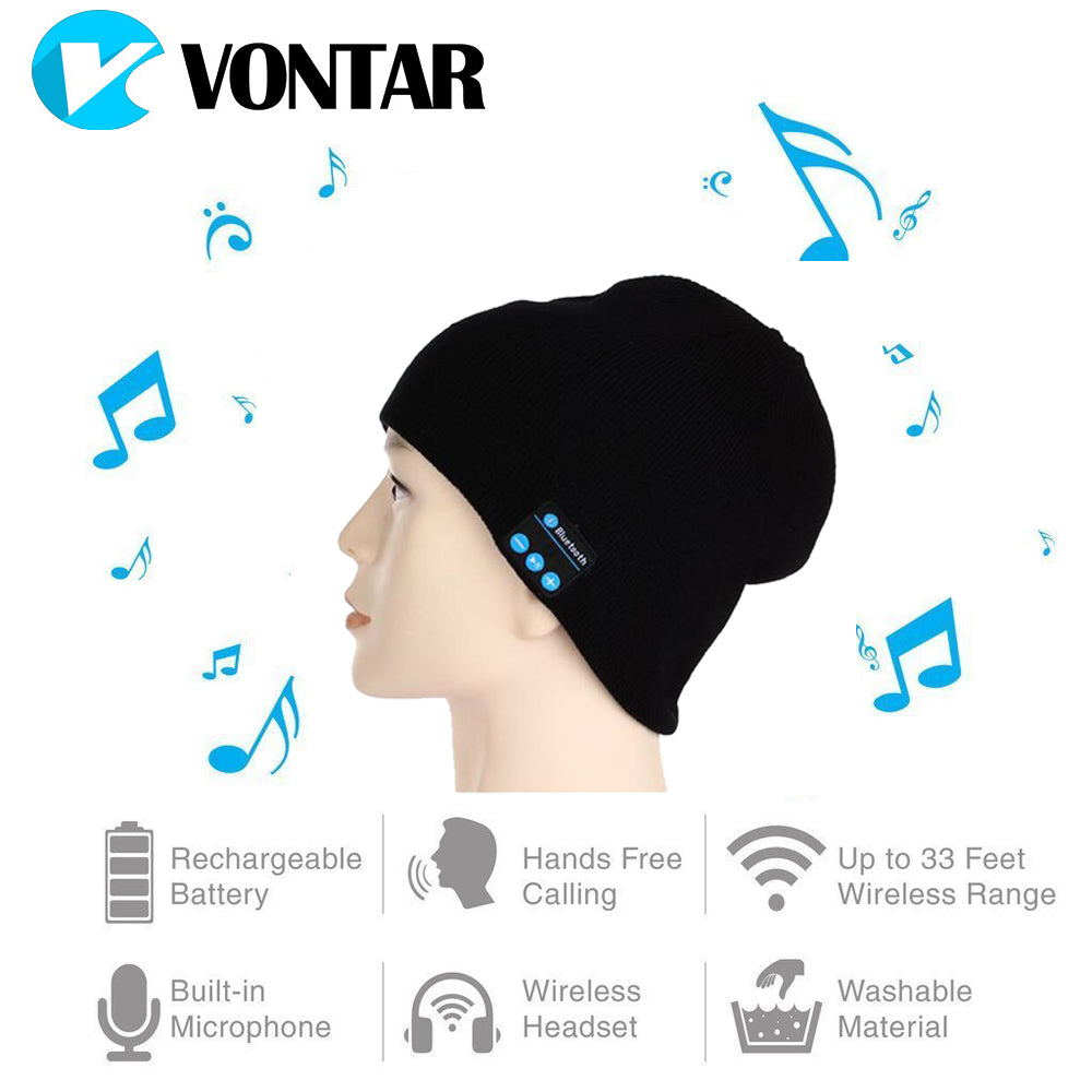 VONTAR MK-1 MK-2 Wireless Bluetooth headphones Music hat Smart Caps Headset earphone Warm Beanies winter Hat with Speaker Mic