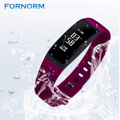 Fornorm Multifunctional IP67 Waterproof Bluetooth Heart Rate Monitor Wristband With Remote Camera Fitness Sports Tracker Watch
