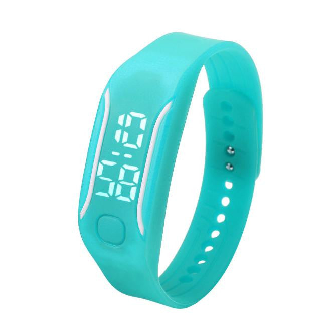 Fashion LED Sports Running Watch Date Rubber Bracelet Digital Wrist Watch