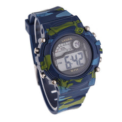 Children Boys Camouflage Swimming Sports Digital Wrist Watch Waterproof