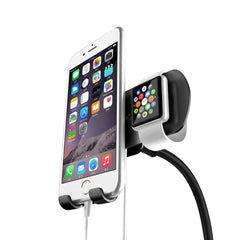 Dual Magnetic Car Mount Holder Stand Dock for Apple Watch iWatch and iPhone 7 Plus 6 6S Plus 5S