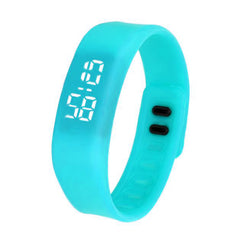LED Sports Running Watch Date Rubber Bracelet Digital Wrist Watch