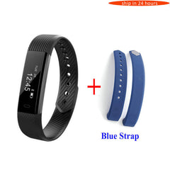 HoldMi ID115 Smart Bracelet Fitness Tracker Step Counter Activity Monitor Band Alarm Clock Vibration Wristband IOS Android phone