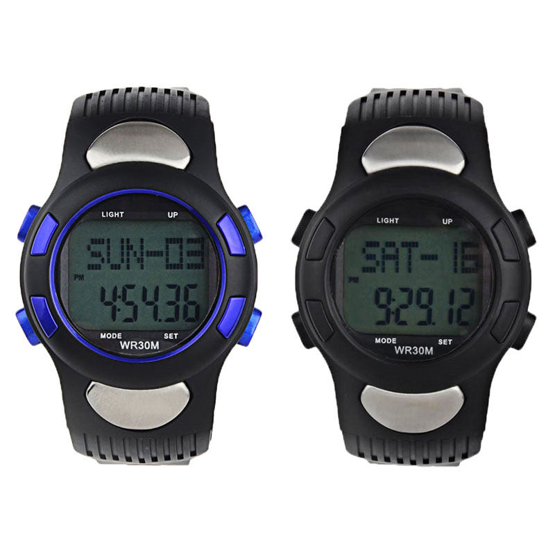 Waterproof Fitness 3D Pedometer Calories Counter Sport Watch Pulse Heart Rate Monitor Gift#