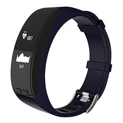 FORNORM LED Smart Heart Rate Wristband Fitness Tracker Monitor Sleep Monitor Call Reminder Alarm Clock Waterproof Smart