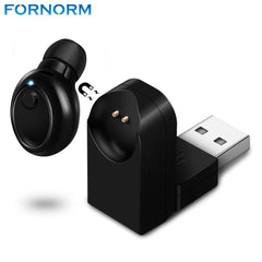 Fornorm Magnetic Mono Small Single Earbuds Hidden Invisible Earpiece Mini Wireless Headset Bluetooth Earphone with Mic For Phone