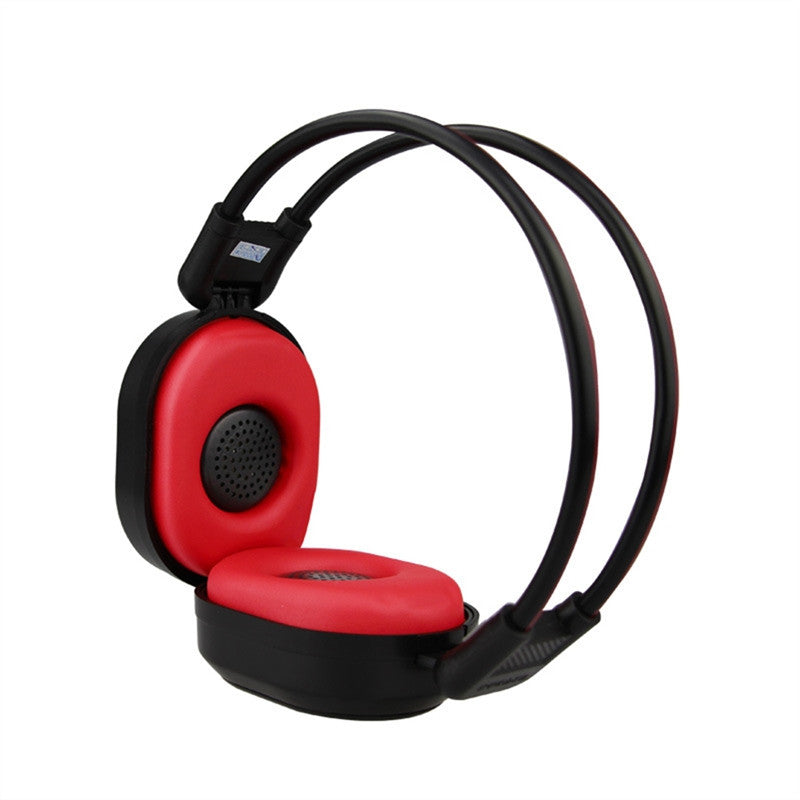 Foldable Wireless FM Hearing Headset 50-108MHZ Listening Headphone