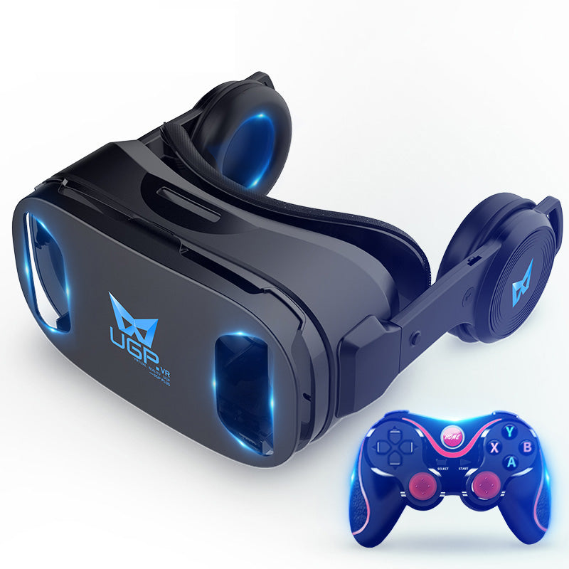 UGP 3D IMAX Virtual Reality Helmet VR Headset For Smartphone 4.5-6 Inch With Bluetooth Gamepad VR Glasses For 3D Games Video