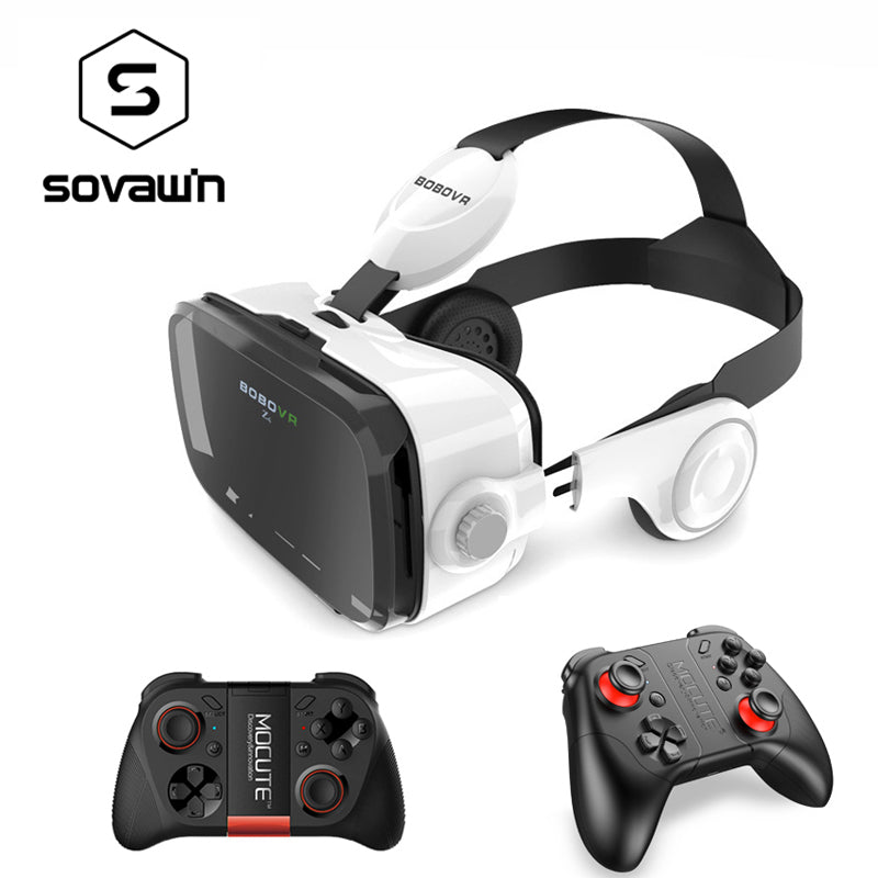 Original BOBOVR Z4 3D Glasses Virtual Reality VR Headset BOBO Google Cardboard VR Head Mount BOX with Bluetooth Remote for 4-6'