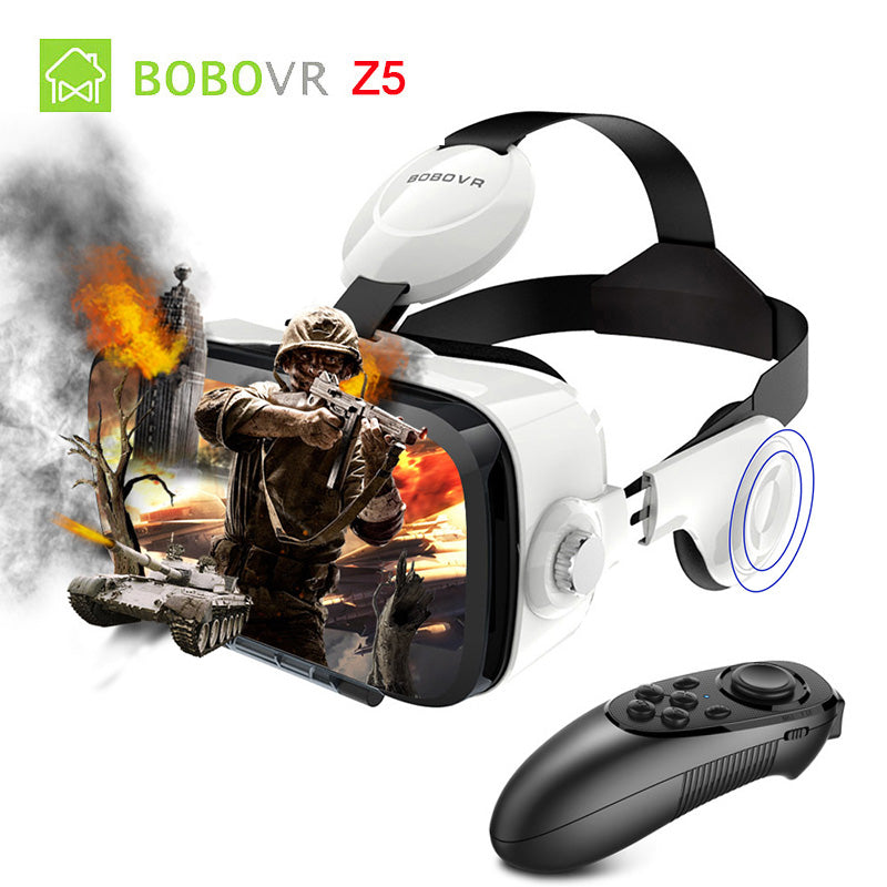 xiaozhai BOBO VR Z4 Glasses with Bluetooth Remote Google Cardboard Box Pro for Iphone Android Smartphone 2017 Biocular Immersive