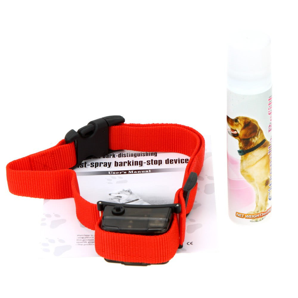 Pet Dog Citronella Spray Bark Control No Barking Collar Professional Pets Training Tool