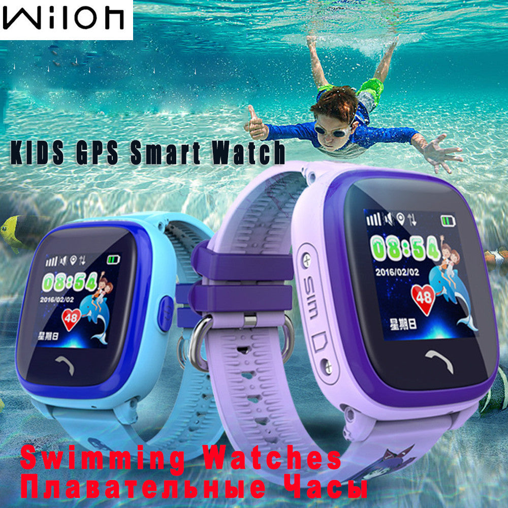DHL Waterproof GPS Tracker Watch For Kids Swim touch screen SOS Emergency Call Location smart watch DF25 Wearable Devices