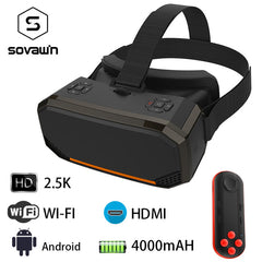 Sovawin H3 All in One VR Headset 3D Smart Glasses Virtual Reality Goggles VR Helmet 2K WIFI HDMI Video  Box with Controller