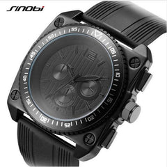 SINOBI Sport Wrist Watch Men's Watch Fashion Waterproof Silicone Watches