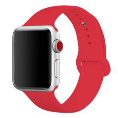 Sport Band for Apple Watch 42mm 38mm, Soft Silicone Strap Replacement iWatch Bands for Apple Watch Sport, Series 3, Series 2, Series 1 S/M M/L