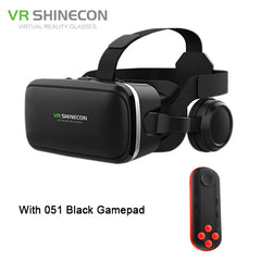 VR Headset Shinecon 6.0 Pro Stereo BOX Virtual Reality Smartphone 3D Glasses Google VR Headset with Controller for Android