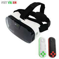 Original Fiit 2N 3D Glasses VR Virtual Reality Box Headset 120 FOV Video Google Glass Cardboard Helmet For Phone 4-6' + Remote