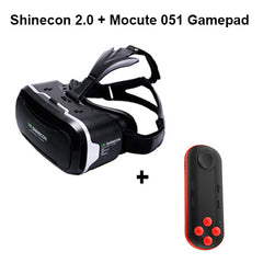 VR Shinecon 2.0 3D Glasses Virtual Reality Smartphone Headset Google Cardboard VR Helmet BOX for Iphone Android 4.7-6' Phone