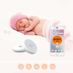 1 Pcs Baby Thermometer Monitor Intelligent Wearable Safe Thermometer Bluetooth 4.0 Smart Baby Monitor Health Care For Children