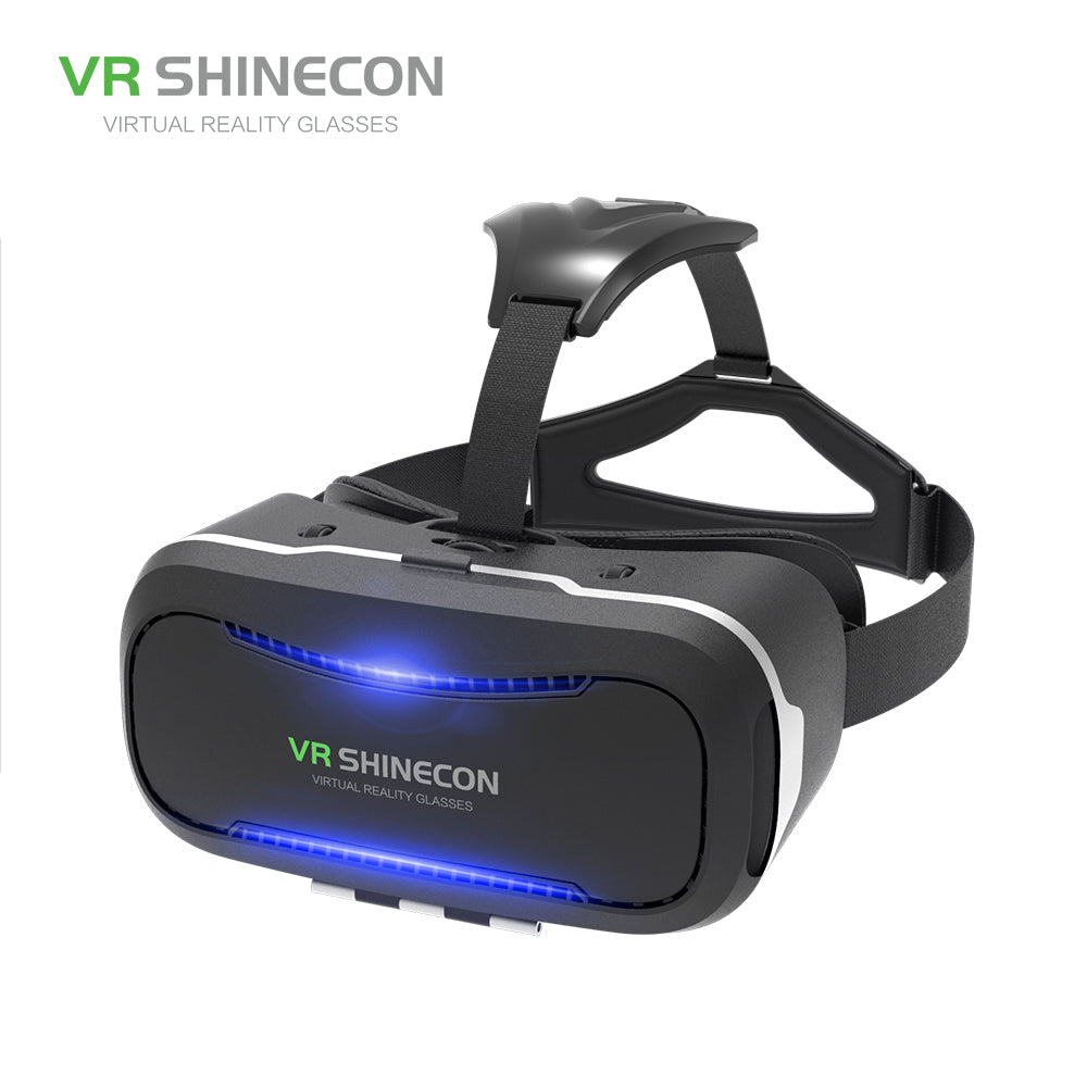 VR SHINECON VR Glasses For Smartphone 3.5-6 Inch 3D Virtual Reality Headset Cardboard Glasses VR Casque Box Upgraded SC-G02 New