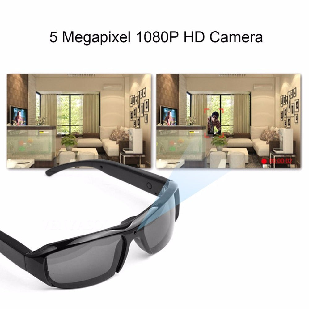 5MP 1080P Smart Video Recording Polarizing Sunglasses Outdoor Cycling Goggles Camera Sun Glasses security camera Support TF Card