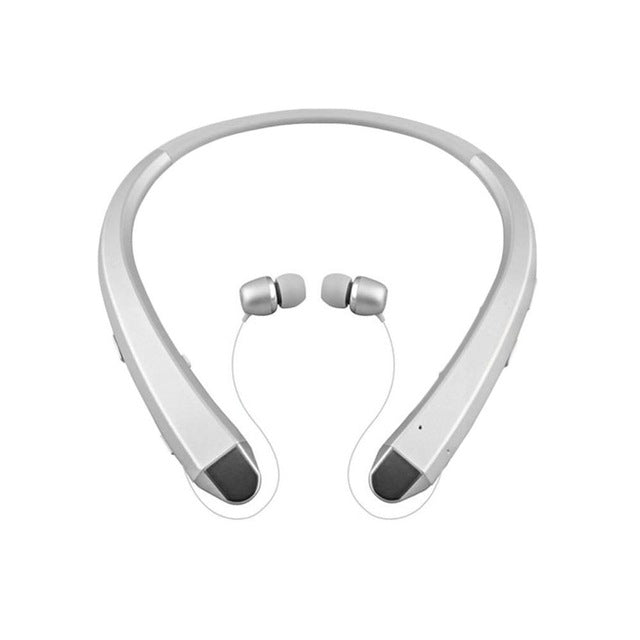 95ed2fa1a9c Wireless Bluetooth Headset with Retractable Earbuds Dual-Mic Sport Stereo  Headphone Noise Reduction Earphone Hot ...