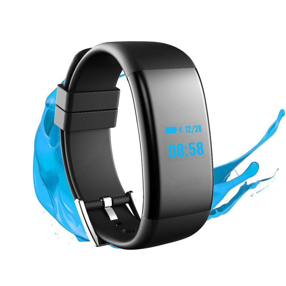 DF30 Bluetooth Smart Wristband Fitness Tracker Watch IP68 Waterproof Sleep Monitor Smart Bracelet with Intelligents Heart Rate Blood Pressure Monitor