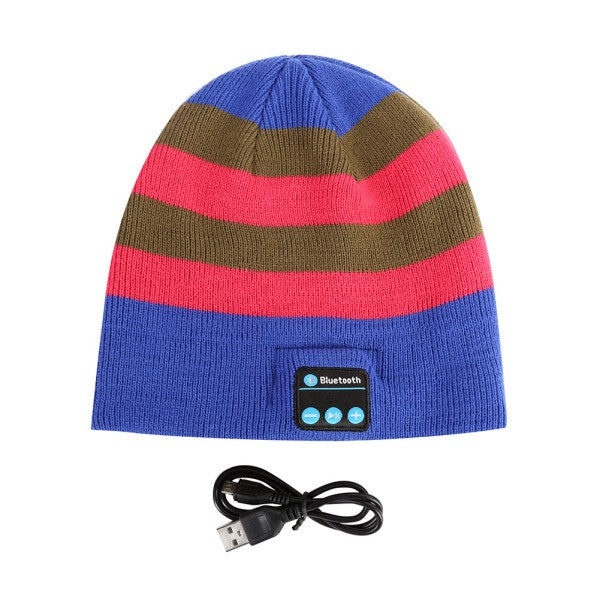 New Soft Warm Beanie Hat Wireless Bluetooth Smart Cap Headphone Headset Speaker Mic Hot PY1