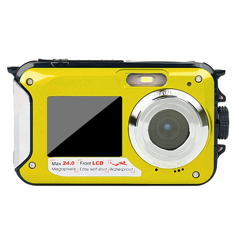 Double Screen Underwater Camera Waterproof Sports Diving Digital Video Camera