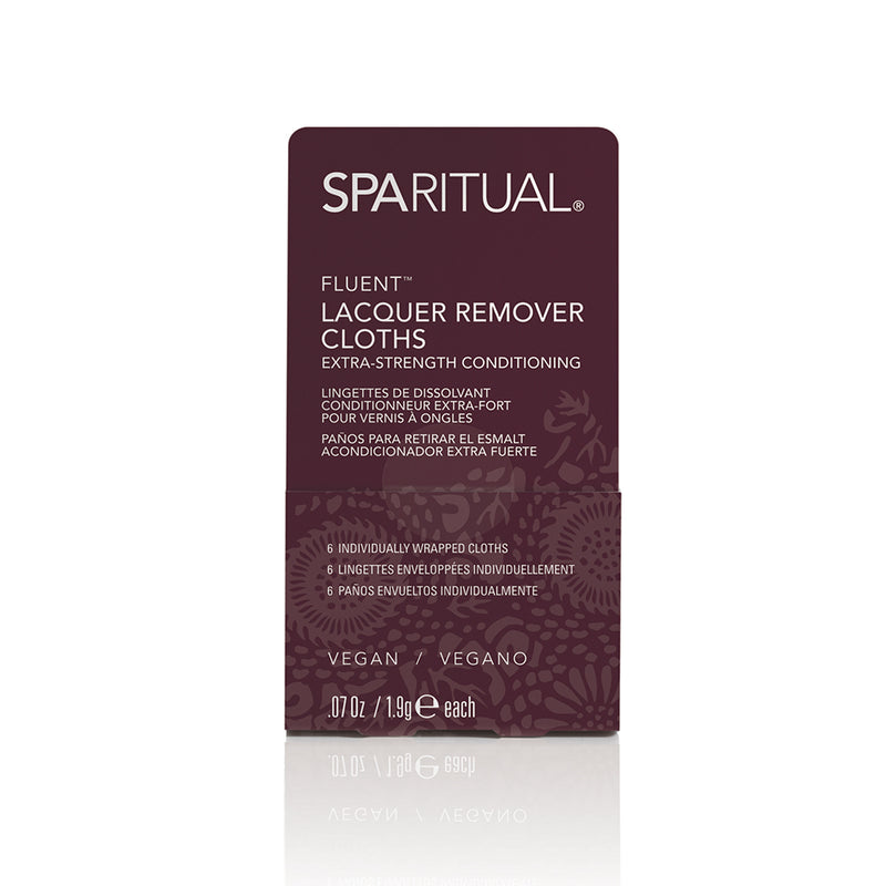 Manicure and Pedicure Essentials - SPARITUAL - FLUENT® EXTRA STRENGTH CONDITIONING LACQUER REMOVER CLOTHS
