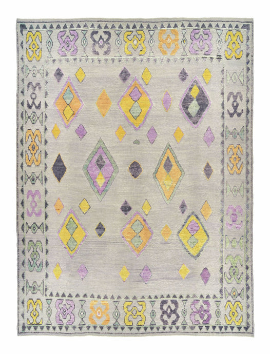 10x14 Gray Flat Weave Modern Turkish Area Rug-turkish_rugs-oriental_rugs-kilim_rugs-oushak_rugs
